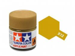 Tamiya Acrylic Mini X-12 Gold Leaf  (Gloss) - 10ml Jar