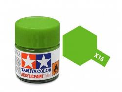 Tamiya Acrylic Mini X-15 Light Green (Gloss) - 10ml Jar