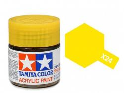 Tamiya Acrylic Mini X-24 Clear Yellow (Gloss) - 10ml Jar