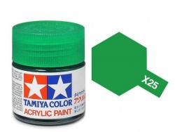 Tamiya Acrylic Mini X-25 Clear Green (Gloss) - 10ml Jar