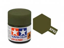 Tamiya Acrylic Mini XF-62 Olive Drab - 10ml Jar