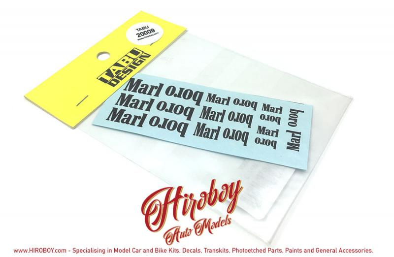 1:20 Mclaren MP4/3 1987 Sponsor Decals (Tamiya)