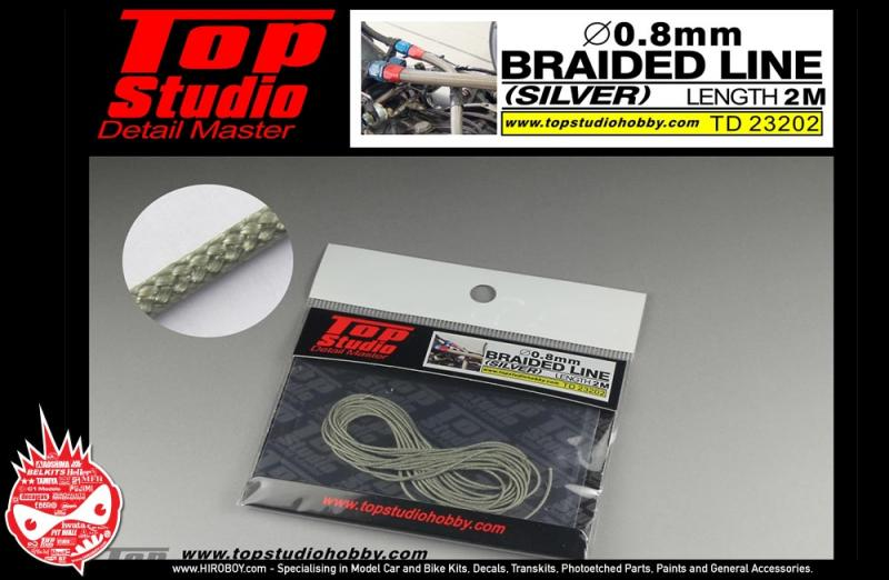 0.8mm Braided Line (Silver)