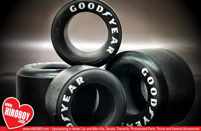 1:12 1970's F1 Tyre with Pre-Printed Goodyear Logo