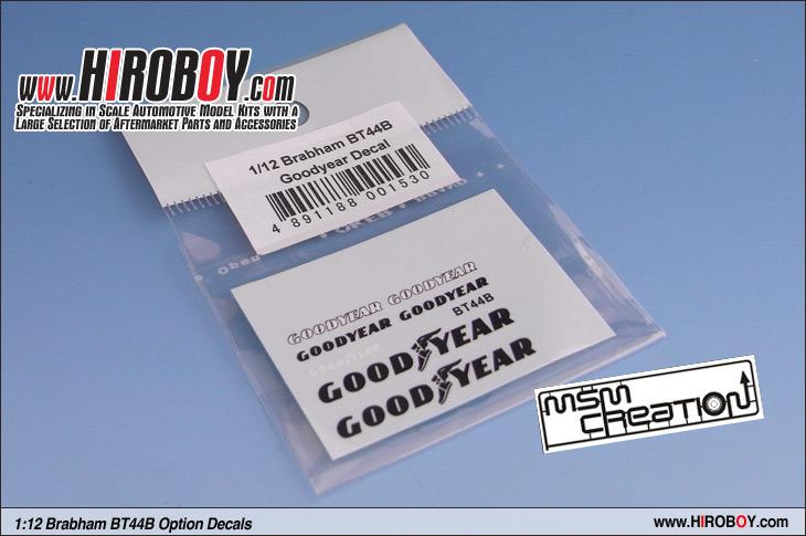 1:12 Brabham BT44B Goodyear Decal