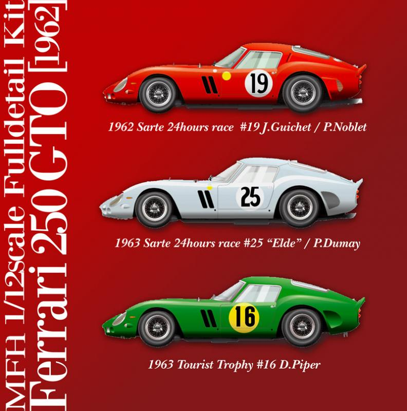 1:12 Ferrari 250 GTO 1962 Version B