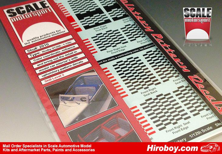 1:12 Ford Shelby GT500 Upholstery Decals
