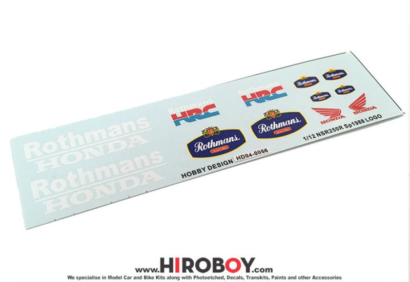1:12 Honda NSR250R SP 1988 Rothmans Decals