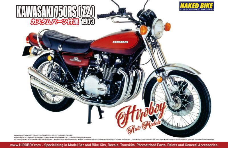 1:12 Kawasaki 750RS ZII c/w Custom Parts
