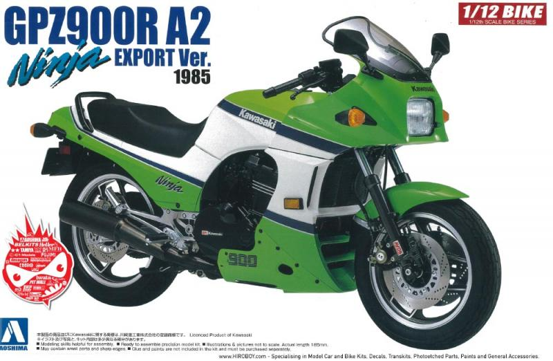 1:12 Kawasaki GPZ900R A2 Export Version 1985