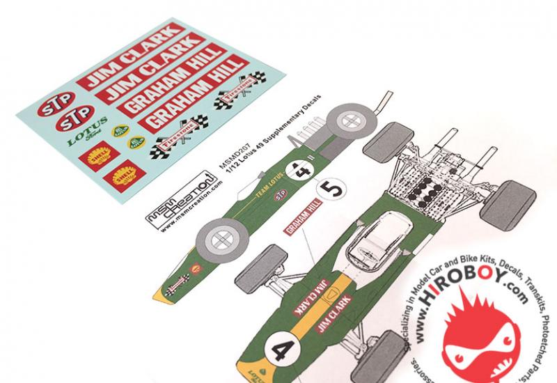 1:12 Lotus 49 Sponsor Decals