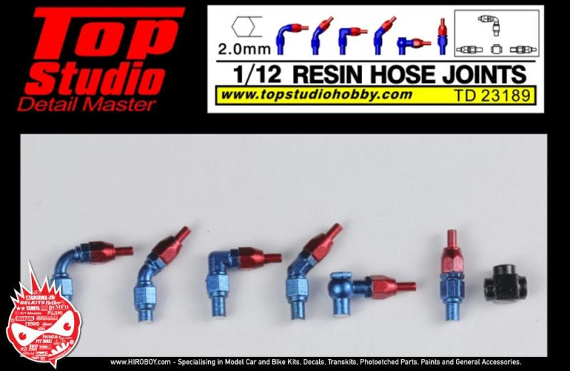 1:12 Resin Hose Joints (2.0mm)