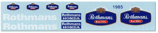 1:12 Rothmans decal for Minichamps 1985 Honda NSR500