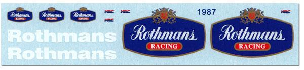 1:12 Rothmans decal for Minichamps 1987 Honda NSR500