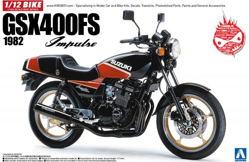 1:12 Suzuki GSX400FS Implse 1982 Model Kit