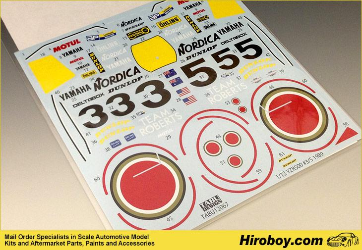 1:12 Yamaha YZR500 #6 Lucky Strike Decals