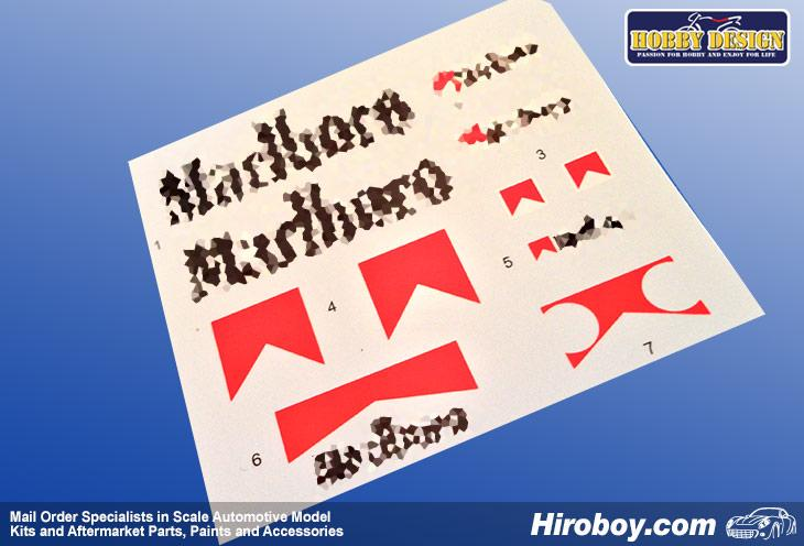 1:12 Yamaha YZR500 '88 Sponsor Option Decals
