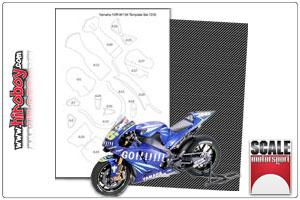 1:12 Yamaha YZR-M1 '04 Carbon Fiber Template Set #7230