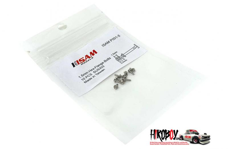 1.5mm Hex Flange Stainless Steel Bolts Pack 10