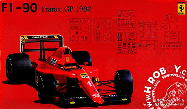 1:20 Ferrari 641/2 F1-90 1990 France GP Clear Body