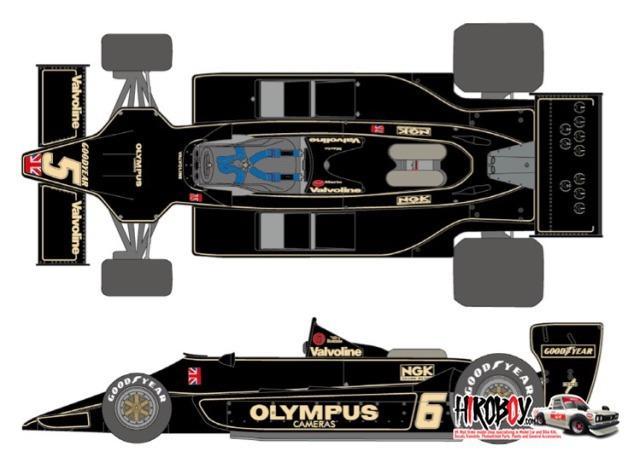 1:20 J.P.S. Team Lotus Type79 1978 Decals for Hasegawa