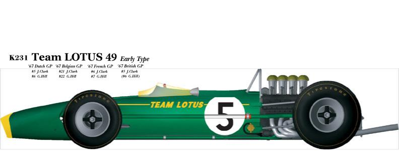 1:20 Lotus 49 Early Type  Full detail Multi-Media Model Kit