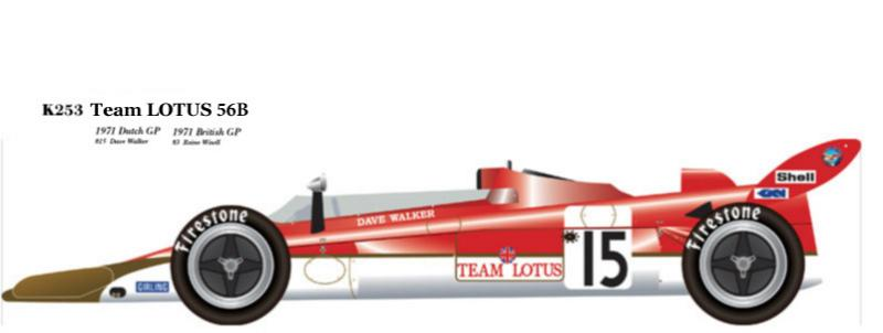 1:20 Lotus 56B Dutch & British GP  Full detail Multi-Media Model Kit