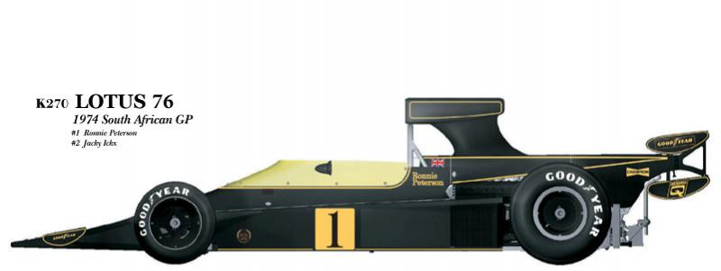 1:20 Lotus 76 South Africa GP  Full detail Multi-Media Model Kit