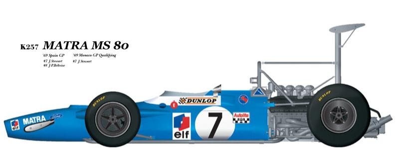 1:20 Matra MS80 verA  Full detail Multi-Media Model Kit
