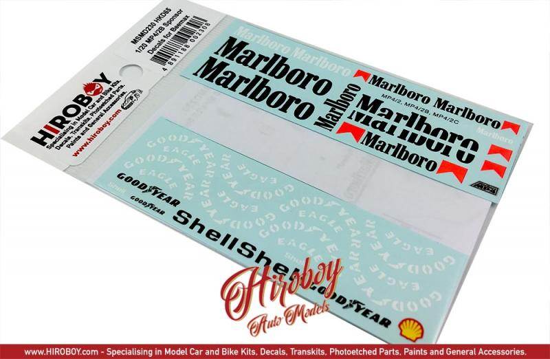 1:20 Mclaren MP4/2 Sponsor Decals for (Beemax)