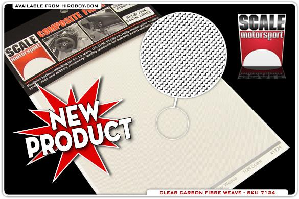 1:24/1:20 Clear Carbon Fiber Weave Decal #1724