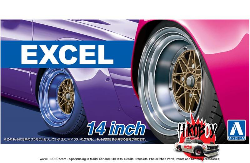 "1:24 14"" Work Equip Excel Wheels and Tyres"