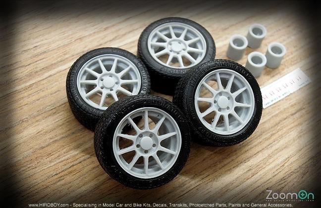 1:24 16'' JDM 98 Spec Wheels and Tyres