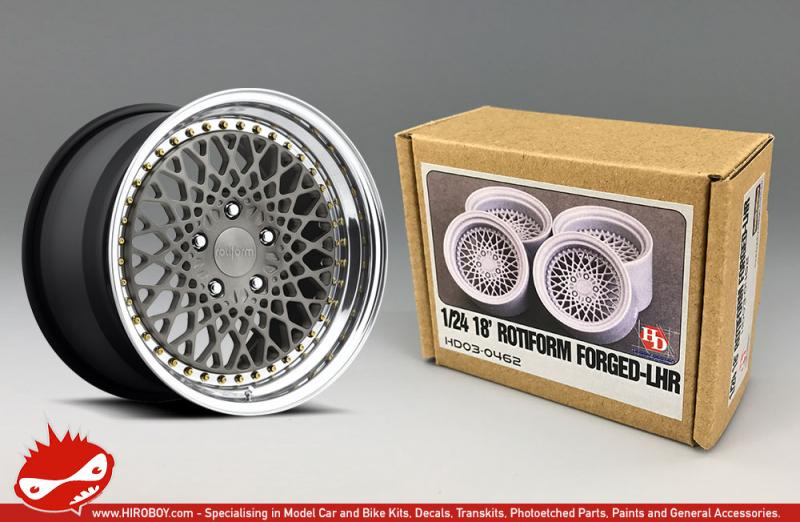 "1:24 18"" Rotiform Forged LHR Resin Wheels"