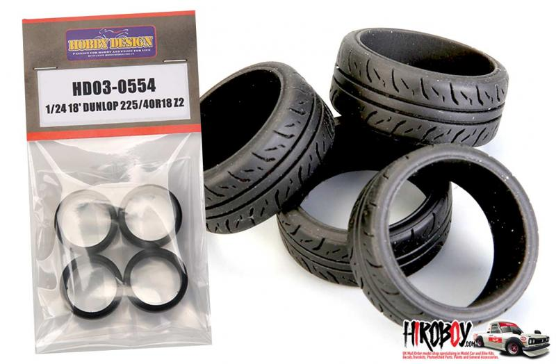 "1:24 18"" Dunlop 225/40R 18 Z2 Tyres"