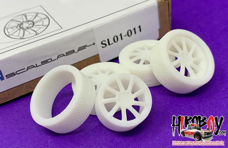 "1:24 20"" Lorinser LM6 Wheels and Resin Tyres"