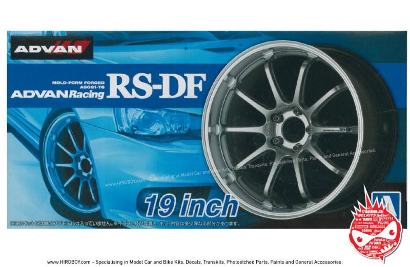 "1:24 Advan Racing RS-DF 19"" Wheels and Tyres"
