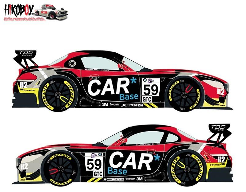 1:24 BMW Z4 GT3 #59 European Le Mans Series 2015 Decals