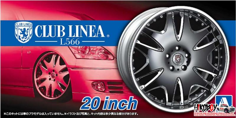"1:24 20"" Club Linea L566 VIP Wheels and Tyres #52"