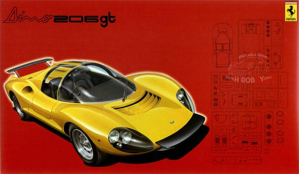 1:24 Ferrari Dino 206GT c/w Photoecthed Parts