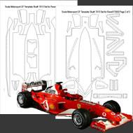 1:24 Ferrari F2003 GA Composite Fiber Decal Template Set #7013