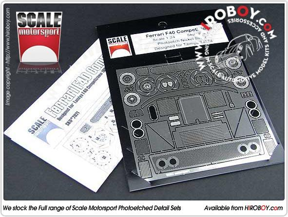 1:24 Ferrari F40 Competizione Photoetched Detail Set #8021