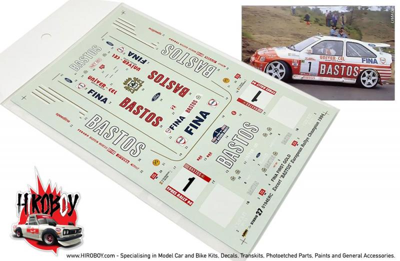 "1:24 Ford Escort RS ""Bastos"" Rally Ypres 1994 Decals"