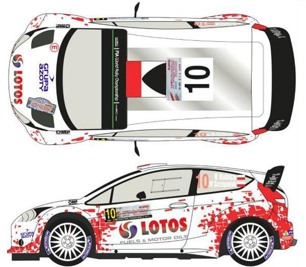 1:24 Ford Fiesta WRC #10 Rally Poland 2014 Decals (Belkits)