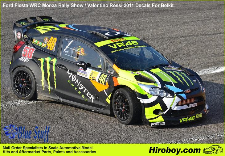 1:24 Ford Fiesta WRC Monza Rally Show / Valentino Rossi 2011 Decals For Belkit