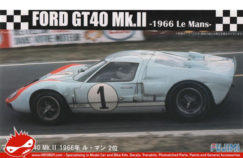 1:24 Ford GT40 Mk-II - 1966 Le Mans 2nd Place  - Model Kit