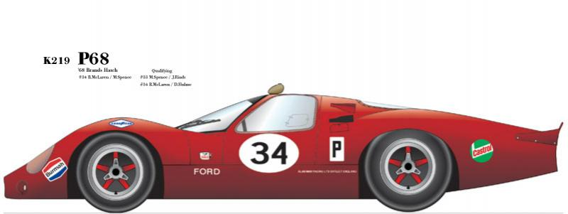 1:24 Ford P68 '68 Brands Hatch Multi-Media Model Kit