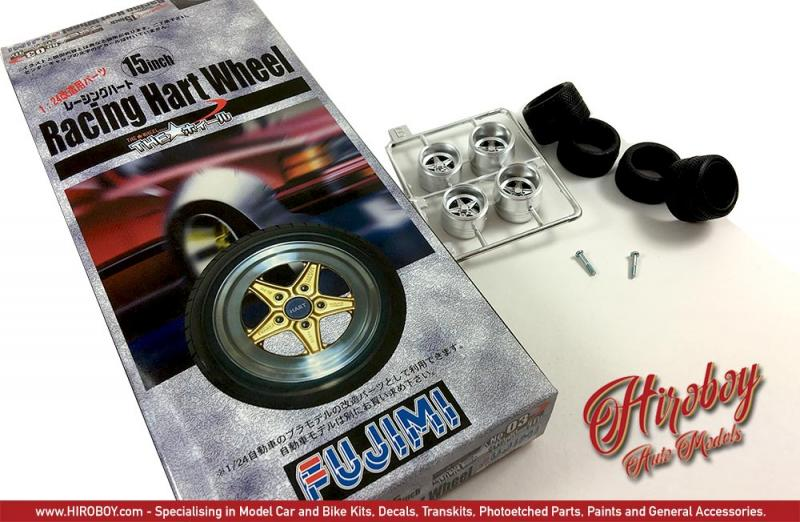 "1:24 Racing Hart 15"" Wheels and Tyres"