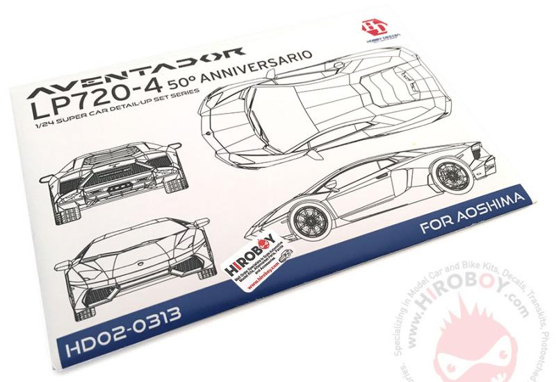 1:24 Lamborghini Aventador LP720-4 For Aoshima (PE+Resin)