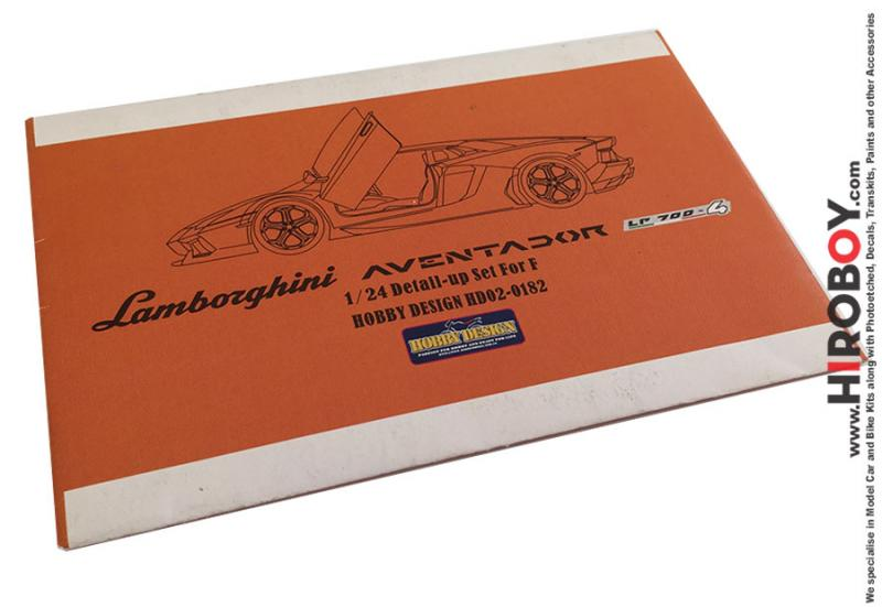 1:24 Lamborghini Aventador Photoetch Detail-Up Set for Aoshima